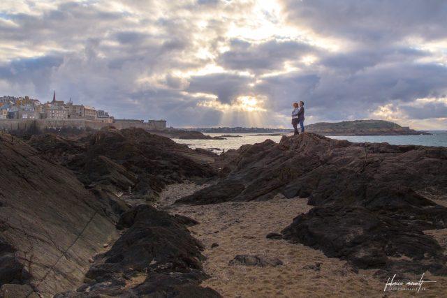 Séance photo en couple - Engagement/Fiançailles de Delphine & Anthony (à Saint-Malo, Bretagne)