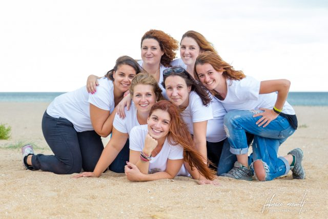 Enterrement de vie de jeune fille de Virginie, la photo de groupe