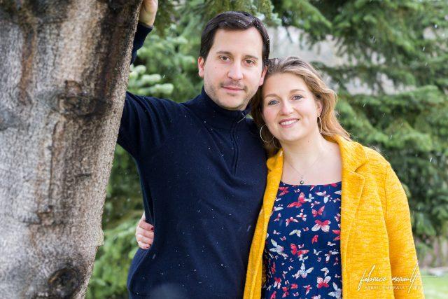 Delphine et Anthony sous un sapin (St-Léger-en-Yvelines, 78)
