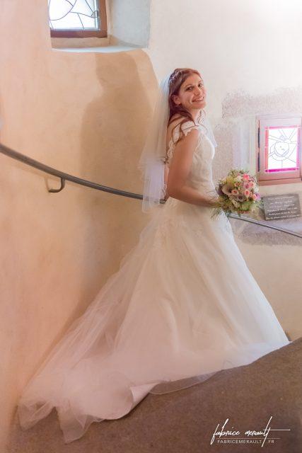 Fin de la cérémonie de mariage civile dans la Mairie de Saint-Martin-de-Landelles (Normandie, Manche)