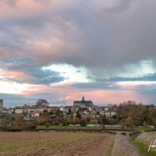 Photographie de paysage – Coucher de soleil pluvieux à Houdan – Yvelines (78), Île-de-France