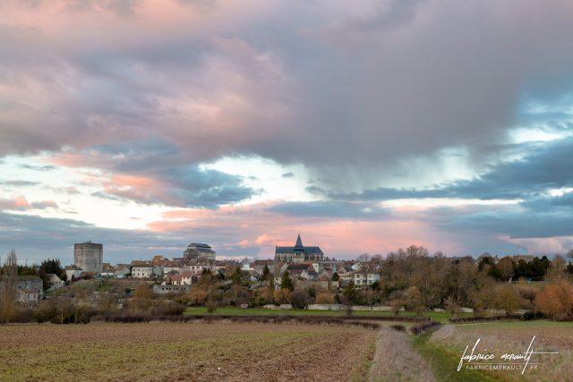Photographie de paysage - Coucher de soleil pluvieux à Houdan - Yvelines (78), Île-de-France