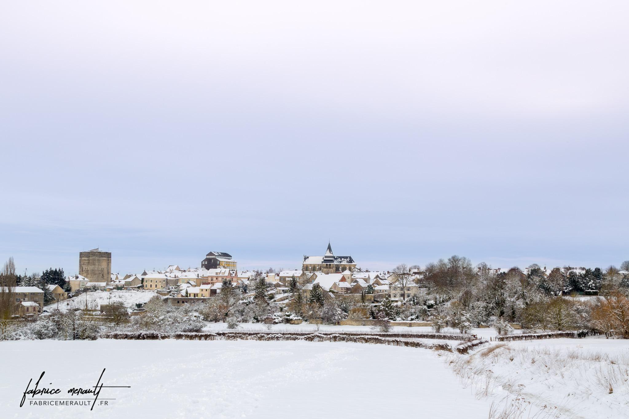 Photographie de paysage - Houdan sous la neige - Yvelines (78), Île-de-France