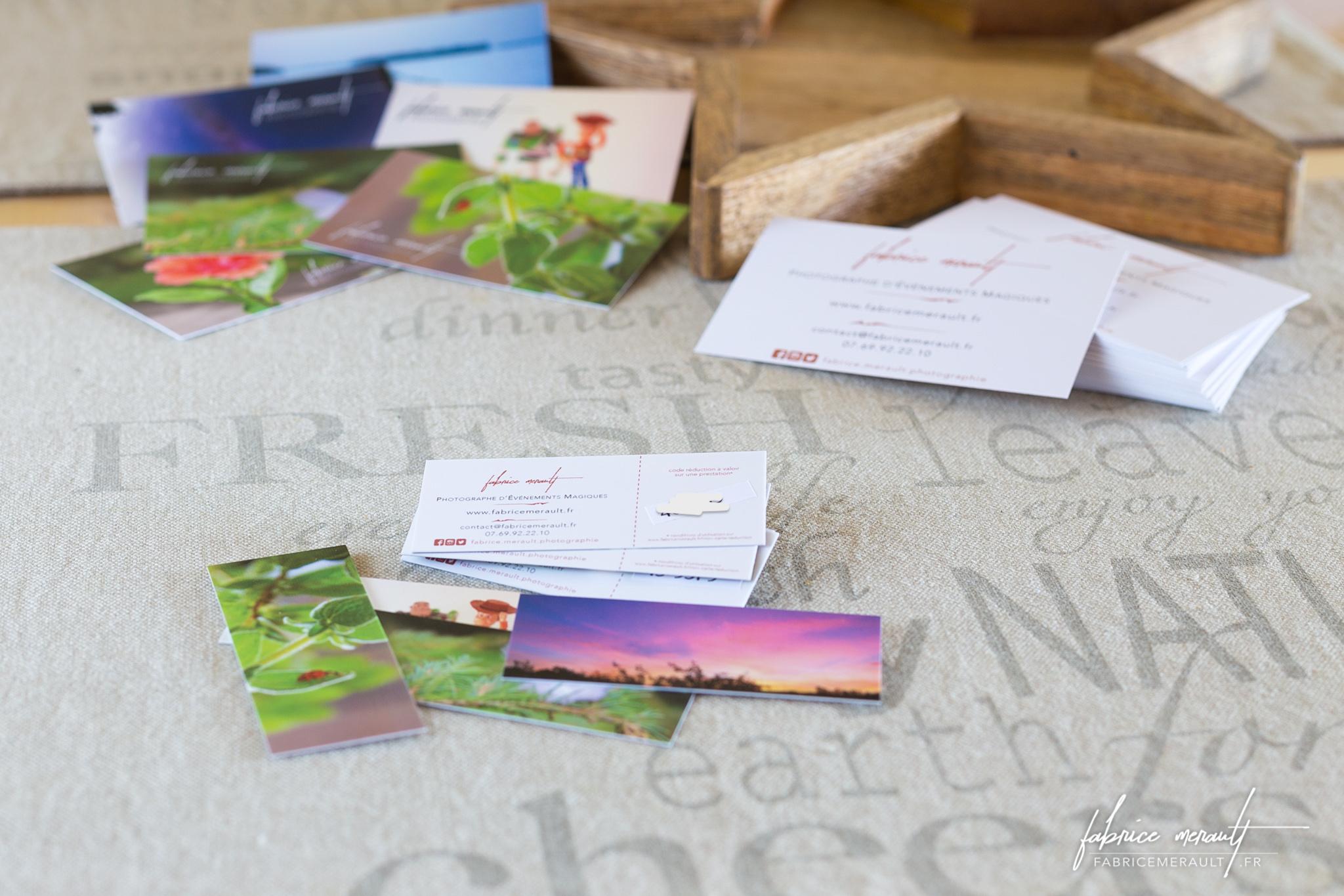 Mini-cartes réduction sur séances et reportages photos