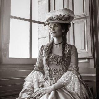 «Melly» (@mellyswardrobe) dans le Château de Vaux-le-Vicomte
