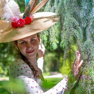«Audrey» dans le parc du Château de Vaux-le-Vicomte
